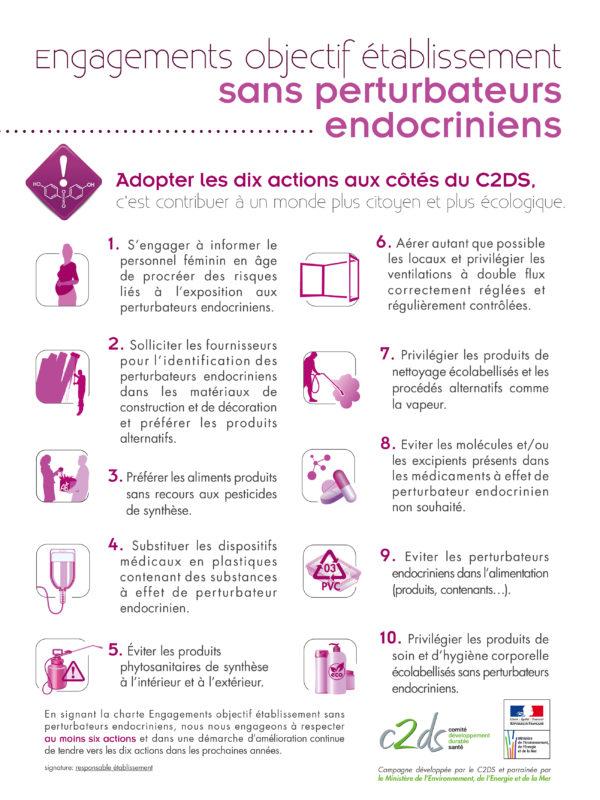 Engagements objectif établissement - sans perturbateurs endocriniens